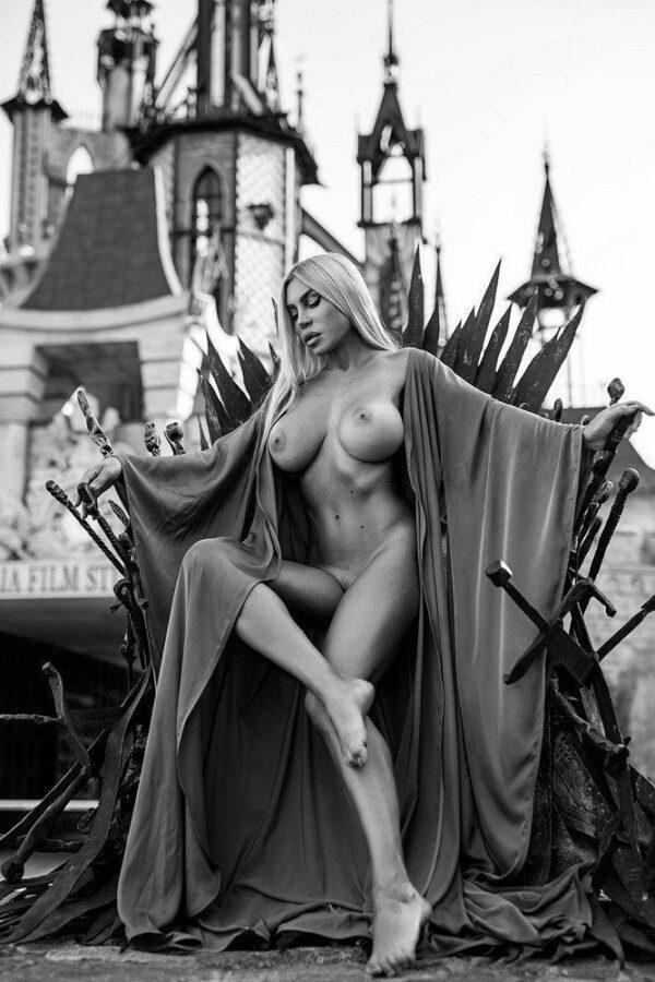 Künstlerische exklusiv schwarz-weiß Aktfoto Poster nude Acrylglasbild A108, Wandbild PlumaArt