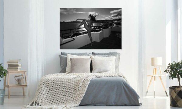 Künstlerische exklusiv schwarz-weiß Aktfoto Poster nude Acrylglasbild A134, Wandbild PlumaArt