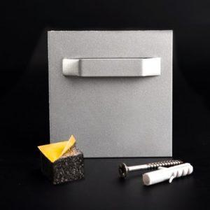 Bildbefestigung   Acrylglasbild Halter Bildaufhängung + Puffer selbstklebend bis 3 kg 70x70 mm Lieferumfang: Spiegelaufhängung +