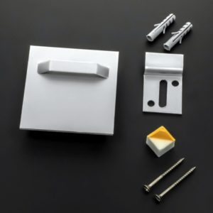 Bildbefestigung   Acrylglasbild Bilder-Aufhängung mit Wandpuffer und Wandhaken bis 3 kg | 70x70 mm Lieferumfang: Bilderaufhängun