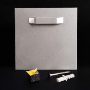 Bildbefestigung   Acrylglasbild Halter Bildaufhängung + Puffer selbstklebend bis 6 kg 100x100 mm Lieferumfang: Klebeaufhänger mi