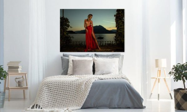 Künstlerische exklusiv Aktfoto Poster nackte Frau Acrylglasbild A091, Wandbild PlumaArt
