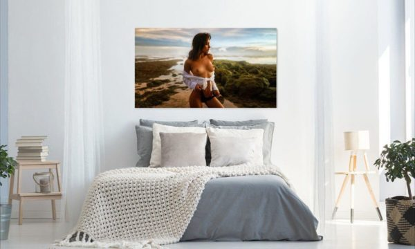 KÜNSTLERISCHE AKTFOTO 21C19 Premium Wandbild Poster Acryl PlumaArt nackte Frau, Wandbild PlumaArt