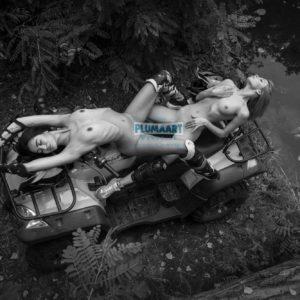 Acrylglas 3mm starke   Künstlerische exklusiv schwarz-weiß Aktfoto Foto urban nude A273 Künstler: Aleksandr Lishchinskiy Akt-Bi