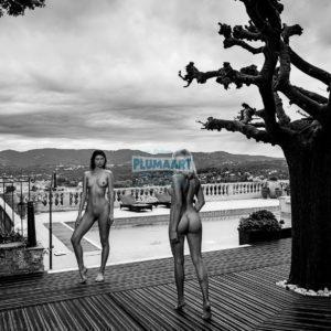 Acrylglas 3mm starke   Künstlerische exklusiv schwarz-weiß Aktfoto Poster nude Acrylglasbild A133 Künstler: Aleksandr Lishchinsk