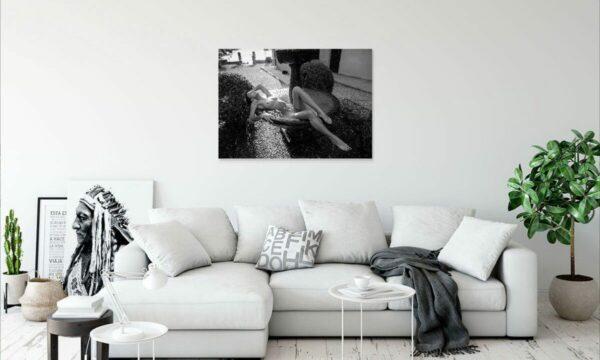Künstlerische Aktfoto nackte Frau Brunnen Geschenk Kunst A046, Wandbild PlumaArt