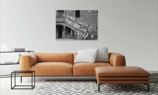 Premium Poster 40×60 cm Akt Erotik Kunst Wandbild Schloss 14 nackte Frauen A043, Wandbild PlumaArt